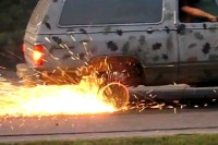 Video: Dodge Ramcharger Donuts Have a Fiery Ending