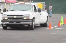 Video: RideTech Chevy Dually Shop Truck Swings Through Autocross!