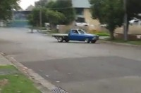 Video: Holden Ute Burns Out Into Ditch