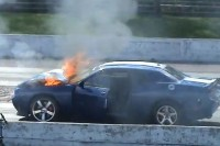 Video: Nitrous Backfire Toasts Dodge Challenger