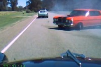 Video: Two Classic Aussie Muscle Cars Lock Horns