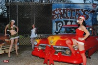 Babe of the Month: Sexy Mrs. Santa and Her Pinup Helpers