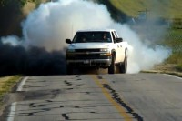 Video: Coal-Rolling Duramax Repeatedly Annihilates Tires