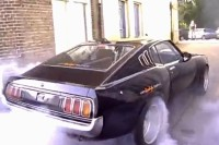 Video: Wide-Body Celica Burns Rubber with American V8 Power