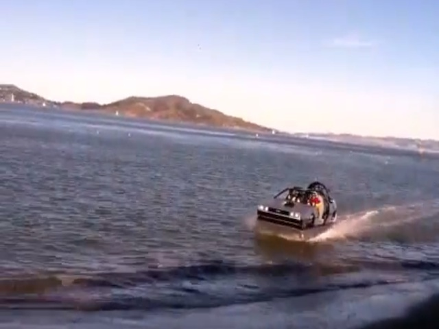 Video: A Hovering DeLorean Cruises On Land And Sea In San Francisco
