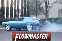 Video: Classic Flowmaster Muffler Sound Test On A Musclecar