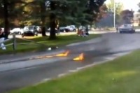 Video: 409 Impala Leaves Flaming Rubber Behind Burnout