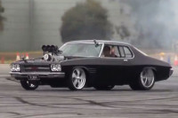 Video: Blown Holden Monaro Burns Up Skidpad In Oz