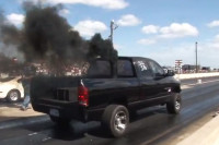 Video: 1,100 HP Turbo/Nitrous Diesel Truck Ousts A Viper At TX2K13