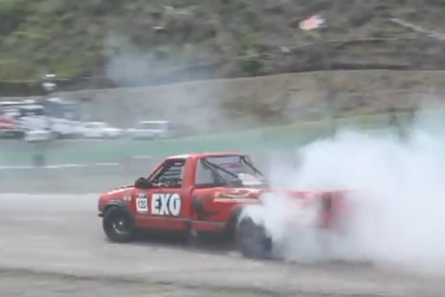 Video: S-10 Chevy Truck Goes Drifting - LSX Engine Makes Big Noise