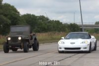 Video: LS-Swapped Willys Jeep on Nitrous Races Corvette ZR1