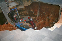 Video: Footage of NCM's Sinkhole Cave-In Released