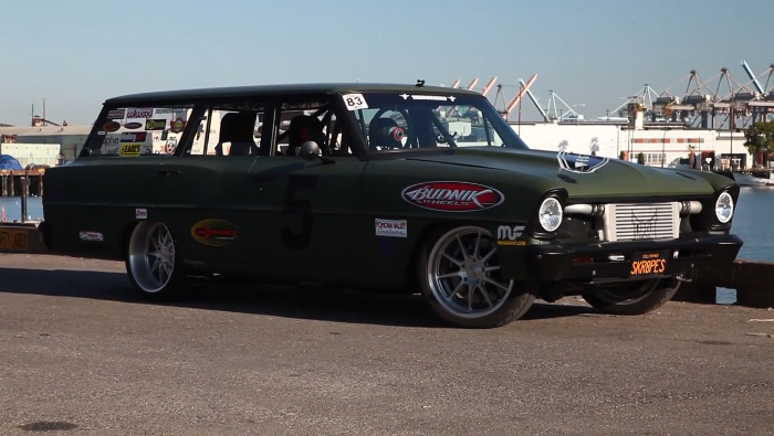 Video: Big Muscle Checks Out Tim Katz's '66 Nova Wagon TAPOUT Terror