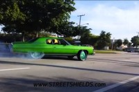 Video: Supercharged Big Block Donk Burnout Nearly Goes Wrong...Twice