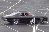 Video: K-Rail - 1, Chevelle Owner - 0 After He Tackles The Autocross