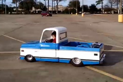 Video: Cruising In A Mini Chevrolet Custom 10 With Chaotic Customs