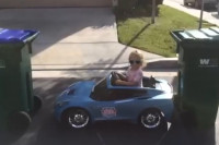 Video: Drifting Like A Pro In C7 Power Wheels - And She's Only Three