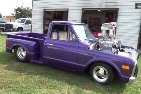 Video: Pro-Street 1968 Chevy Pickup with 800 HP Blown Small Block