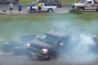 Video: Watch This Maniac Drift A Work Truck Like A 240SX