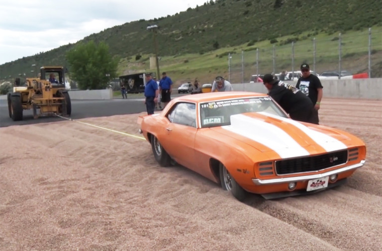 Video: Doug Cline Mistakenly Stuffs Drag Week Camaro Into The Sand