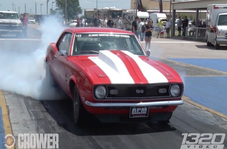 Alex Taylor's 8-Second Pass In Twin Turbo 6.0 Liter V8 '68 Camaro