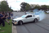 Video: Car Show Burnout Goes Very Wrong For This GT500 Driver