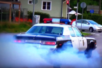 Muscle Car Fans Light Up Their Tires In Finland