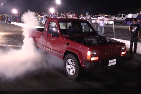 Video: 10 Second Turbocharged LS Swapped '89 Jeep Comanche