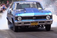Video: Watch This Nitrous Chevy Nova Drag Car Turn 8 Second Passes