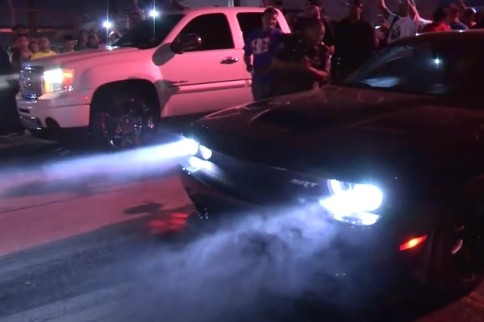 Video: Watch This Hellcat Challenger Get Schooled By GMC Pickup