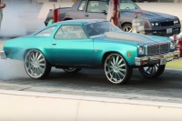 Video: A Chevy Malibu Donk Making 12-Second Passes