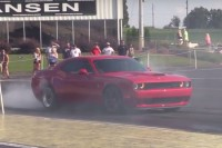 Dodge Challenger Hellcat drag car