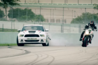 Mustangs, Motorcycles, and Dax Shepard Star in ICON Drift battle