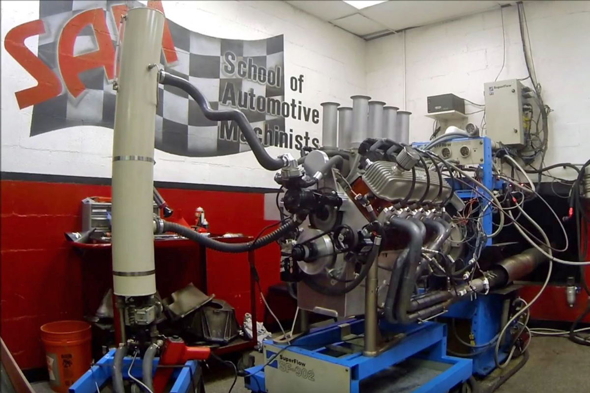 Video: SAM Engine Masters Challenge Chrysler Poly 402ci On The Dyno!