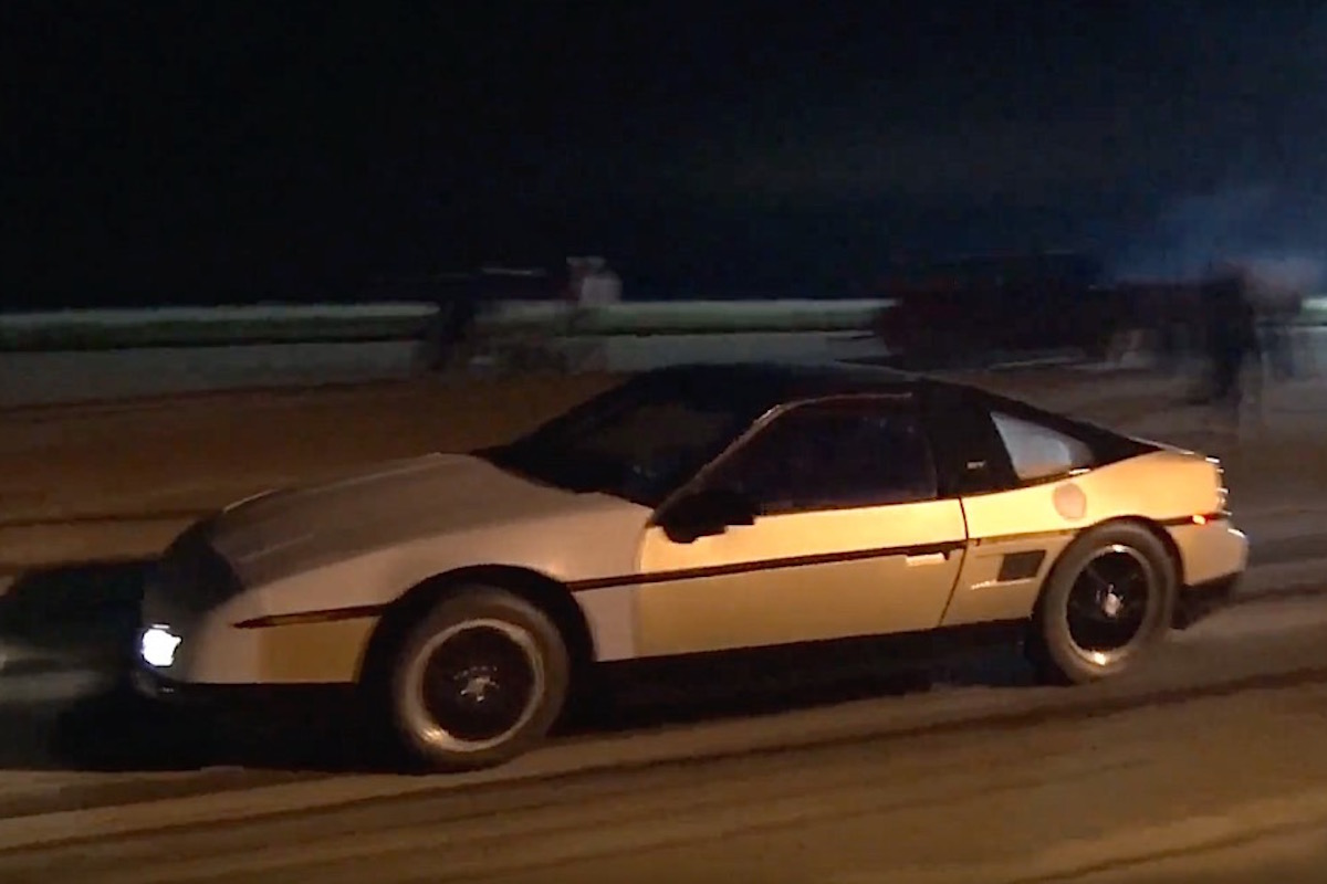 Video: This Turbo LS4 Swapped Pontiac Fiero Turns Heads, Goes 10s