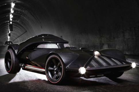 Leno Turns To The Dark Side With Darth Vader Car
