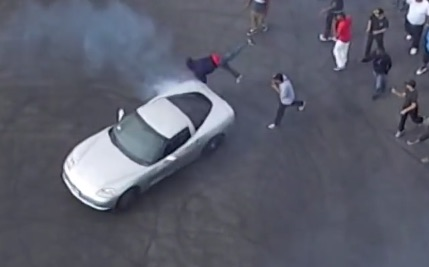 Video: Compton Sideshow Spectator Struck By Corvette