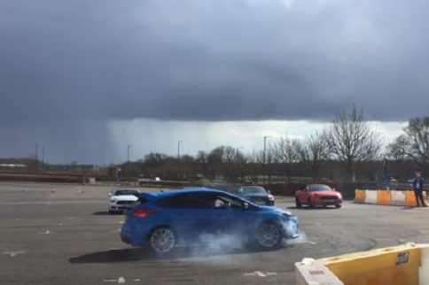 Video: Mustang vs. Focus RS Drift Battle