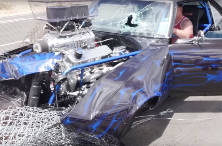Big Block Blown Camaro Crashes Hard Leaving Cars and Coffee Event