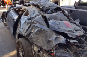 Video: Crashing At 195 MPH, And They Walked Away From Tangled Mess