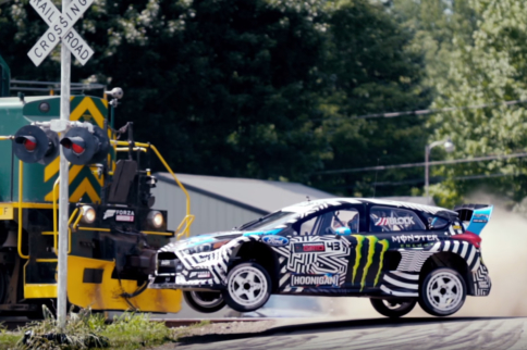Video: Now He's Just Showing Off - Ken Block Hoons Gymkhana Nine