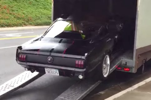 Whoa! 1965 Mustang Crashes Into Transporter