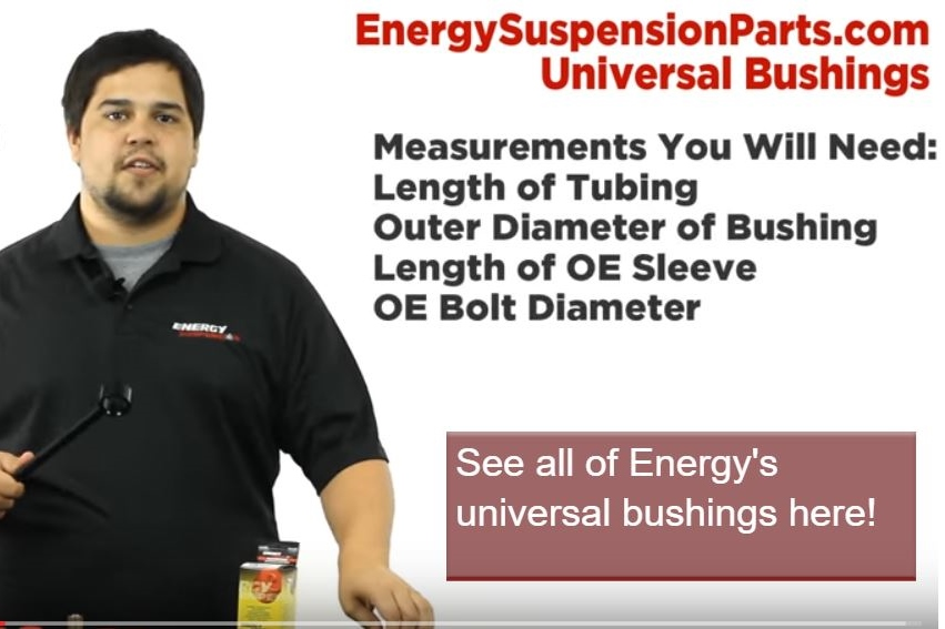 Video: Energy Suspension Universal Bushings - How To Measure