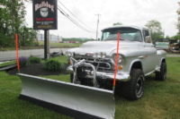 Silver Clean Pickup: Keith Price's 1957 Chevy Truck