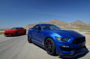 Video: 2017 Chevy Camaro ZL1 vs 2017 Ford Mustang Shelby GT350R