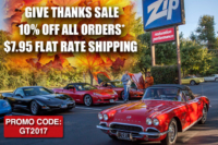"Gobble Up The Savings With Zip Corvette's ""Give Thanks Sale"""