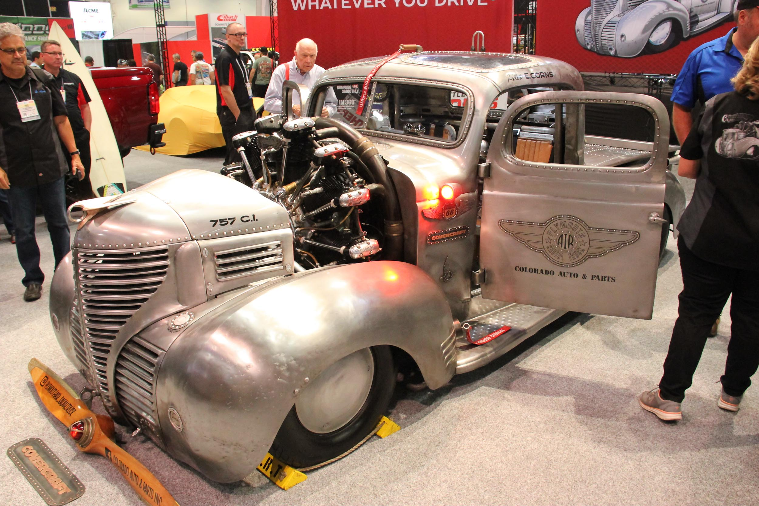SEMA 2017: Gary Corns Wild Radial Engine-Powered '39 Plymouth Truck
