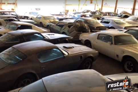 Video: Warehouse Barn Find – It's Pontiac Firebird Heaven!