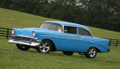 This Grabber Blue '56 Bel Air Is The Epitome Of A Cool Cruiser